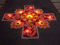 Happy New Year Rangoli Designs Images, Pictures, Photos 2020
