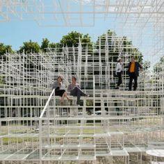 Photos of Sou Fujimoto's  Serpentine Gallery Pavilion