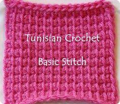 Crocheting the Day Away: Tunisian Crochet How-To… Basic Tunisian Crochet St......free pattern!