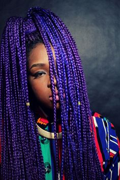 Box Braids are my go-to Style when I'm not wearing my Afro <3 Add color to make it super funky Photo by liloleme.com