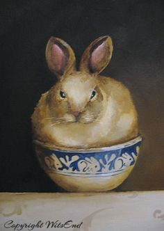 'Bunny Bowl' by 4WitsEnd