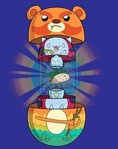 Immpossibear, Catbug, Jelly Kid, and soft taco in Russian Nesting Dolls Jelly Kid, Space Whale, Warriors Wallpaper, Pokemon, Great Warriors, Bravest Warriors, Disney Cartoons, Miraculous Ladybug, Cartoon Art