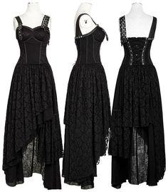 cool Punk Rave Black Gypsy Dress Black Q-291 by http://www.polyvorebydana.us/gothic-fashion/punk-rave-black-gypsy-dress-black-q-291/