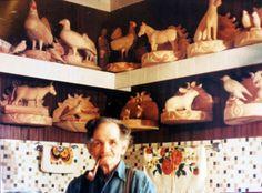 Wilfrid Richard sculpteur ( 1894- 1996 ) fils de Damase Richard ( 1852- 1922 ) aussi sculpteur. Wilfrid, Wood Crafts, Folk Art, 18th, Sculptures, Painting, Sons, Popular Art, Painting Art