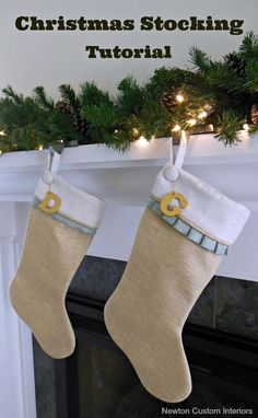 Christmas Stocking Tutorial from NewtonCustomInteriors.com #newtoncustominteriors #christmasstocking #diychristmasstocking
