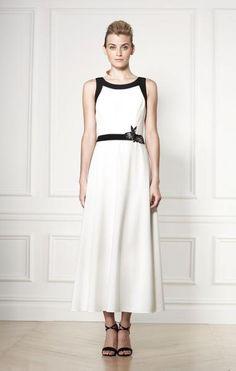 Carolina Herrera falda y blusa en sarga seda