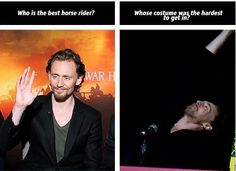 Poor Tom! Loki's gear did look quite complex, and heavy, and warm but he rocked it!! He looked amazing!