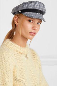 02300b5f25a rag   bone - Fisherman suede-trimmed checked wool-blend tweed cap