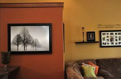 Burnt Orange Paint Color | ... burnt orange accent wall that contrasts with the golden hue of the
