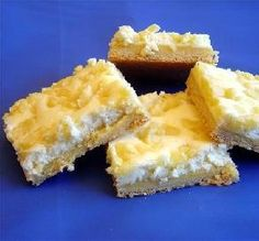 "Lemon Cheesecake Bars: ""Wow, just like a slice of lemon heaven! I love a recipe that's made with basic pantry staples. These would be wonderful for showers, birthdays and brunches."" -Pumpkie"
