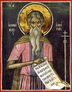 Ioannicius the Great icon- St. Ioannicius the Great icon November Our Holy Father Joannicius the Great, hermit on Mt Olympus - Byzantine Icons, Byzantine Art, Saints And Sinners, Archangel Raphael, Graffiti Murals, Art Icon, Orthodox Icons, Renaissance Art, Outdoor Art