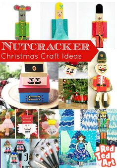 DIY Nutcracker Ideas for kids this Christmas - Red Ted Art - Make crafting with kids easy & fun Nutcracker Crafts, Nutcracker Christmas Decorations, Nutcracker Ornaments, Christmas Crafts For Kids, Simple Christmas, Red Christmas, Christmas Parties, Xmas Crafts, Christmas Ideas