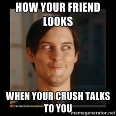 HOW YOUR FRIEND LOOKS WHEN YOUR CRUSH TALKS TO YOU