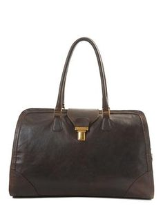 Asia Leather Bag (Dark Brown)