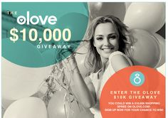 The olove $10,000 Giveaway. Visit GiveawayHop.com for more #sweepstakes and #giveaways