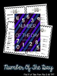 This Number Of The Day pack contains 10 numbers between 0 and 50. Each page requires students to add, subtract, multiply and divide the number.   These worksheets can be used on a daily basis, in conjunction with Mathematical Operation outcomes.  Numbers Included: 16, 18, 21, 26, 28, 30, 36, 40, 45 and 50.