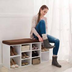 Schoenenkast met zitkussen