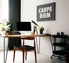 Carpe Diem Printable Wall Art Black and White Typography   Etsy Home Office Decor, Entryway Decor, Home Decor, Living Room Decor, Bedroom Decor, Wall Decor, Home Alone Christmas, Christmas Wall Art, Christmas Quotes