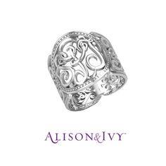 Alison & Ivy // Classic Cigar Band Monogram Ring, 18mm.