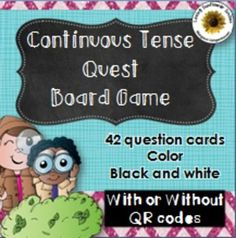 Continuous Tense Board Game (with or without QR codes) Fun Moves, English For Beginners, Thing 1, Art Activities For Kids, Teaching English, Board Games, Teaching Ideas, Teaching Resources, Creative Teaching