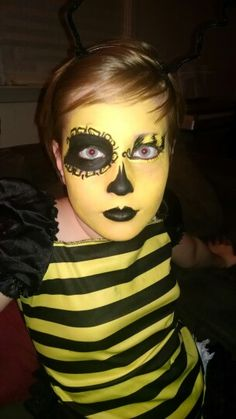 Goth Bumble Bee Face Paint