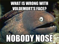 Lol! #funny #harrypotter #voldemortnoseproblems