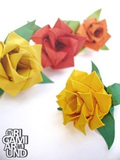 more easy paper roses just for fun  here's the tutorial I used (some just changes have been made)