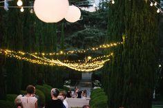Merritt Mansion, Pasadena   Tracy Dodson Photography #wedding #reception #stringlighting #bistrolighting #lantern #canopy #eventlighting #weddinglighting