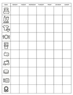 minimalist chore chart
