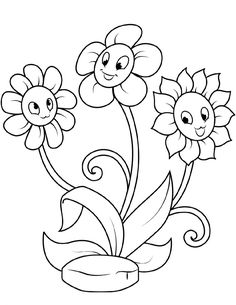 coloring page New coloring pages on Kids-n-Fun. These are the very latest coloring pages on Kids-n-Fun. At Kids-n-Fun you will always find the nicest coloring pages first! Spring Coloring Pages, Coloring Pages For Boys, Coloring Book Pages, Adult Coloring, Flower Coloring Sheets, Printable Flower Coloring Pages, Beautiful Flower Drawings, Flower Drawing For Kids, Cartoon Flowers