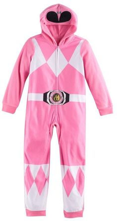 d0a6726705 Girls 6-10 Pink Power Ranger One-Piece Pajamas