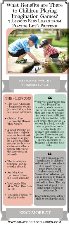 Is there a benefit to children playing imagination games?   Let's Pretend   Imagination   Kid Activities   Child Activities   Christian Motherhood   Parenting   Raising Children   Raising Kids