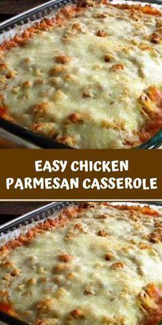 Italian Chicken Casserole, Chicken Parmesan Casserole, Chicken Parmesan Recipes, Easy Chicken Recipes, Easy Chicken Dishes, Easy Casserole Recipes, Casserole Dishes, Poulet Weight Watchers, Oven Chicken