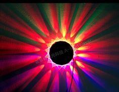 48 x Led luz de La Lámpara Etapa Girasol Colorido UFO luz Giratoria KTV luz de la Etapa de Control de Control de Sonido de Música