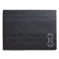 Initial Personalized Slate (Grey) Cheese Board (Initial S)