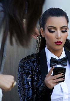 Not a fan of Kim K. But this look has my name written ALLLLLLL over it!