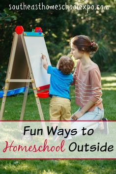 As the weather warms up, take your homeschool outside with some of these fun ideas! Fun Learning, Learning Activities, Mobile Learning, Learning Quotes, Outdoor Learning, Education Quotes, Family Activities, Best Homeschool Curriculum, How To Start Homeschooling