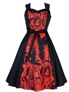 Women's Steampunk Dress by Hemet (Black/Red)