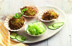 aprende cómo hacer Capesante con pepino granito en este post http://exquisitaitalia.com/capesante-con-pepino-granito/ #recetas #recetasitalianas