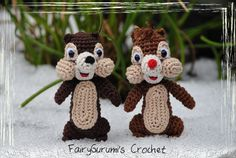 Amigurumi - Disney Tic et Tac - Chip and Dale - Tuto found on ravelry