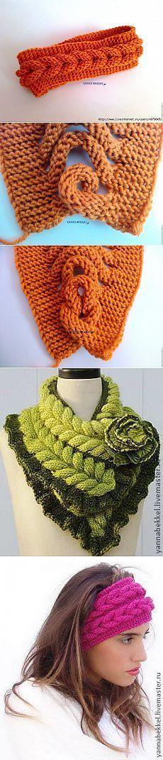 ПОДРОБНЫЙ МАСТЕР-КЛАСС ПЛЕТЕНИЯ И ВЯЗАНИЯ КОЛОСКА. [] # # #Knitting, # #Scarves, # #Of #Agujas, # #Tissue, # #Points
