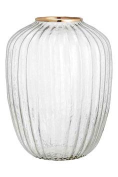 Duży wazon z czystego szkła - Czyste szkło/Złoty - HOME   H&M PL