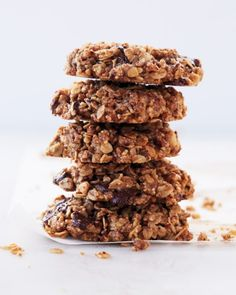 An allergen-free, totally delectable treat, these cookies are made with olive oil not butter; maple syrup in place of sugar; and plenty of nuts, chocolate, and oats. They're gluten-free, egg-free, dairy-free, refined-sugar-free cookies that taste great.