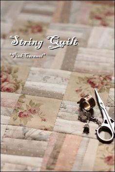Patchwork * Pink Caramel *: string quilt