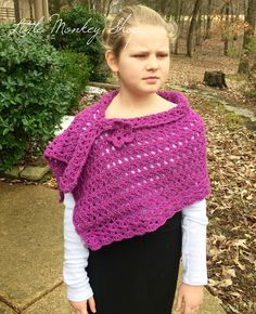 New to LittleMonkeyShop on Etsy: Crochet PATTERN Girls Shawl with Flower Poncho Crochet Pattern in multiple sizes - Girls Cape Pattern - PDF Instant Download - Iris Design (4.50 USD)