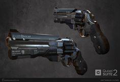 ArtStation - Sci-Fi Revolver, Josh Wilkinson