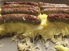 Zauberhafte Leckereien mit Martina Ziehl: Rostbratwürstel auf Kartoffelbrei und Sauerkraut
