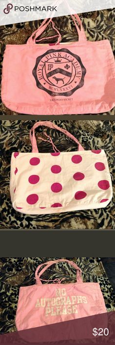 Victoria's Secret Pink's Tote Bag Large Great Condition Pink's University Reversible Bag Bags Totes