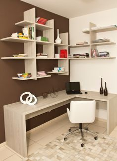 √ Most Popular Study Table Designs and Children's Chairs Today Home Office Space, Home Office Design, Home Office Decor, Bedroom Furniture, Furniture Design, Furniture Chairs, Room Chairs, Study Table Designs, Room Decor