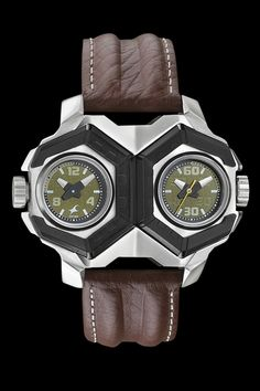 Fastrack Guys Leather analog #Greenwatches